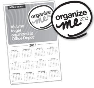 Office Depot: FREE Organize Me 2013 Calendar